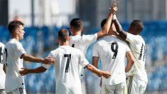 Los jugadores del Castilla celebran un gol. (Realmadrid)