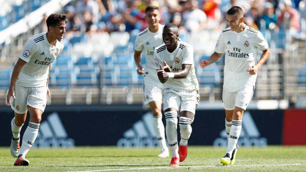 Vinicius celebra un gol. (Realmadrid.com)