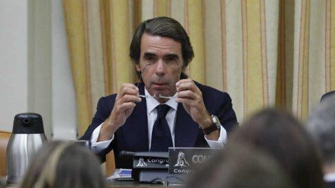 El expresidente del Gobierno durante su rifirrafe con Pablo Iglesias en el Congreso