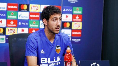 Dani Parejo comparece en la previa del choque ante la Juventus. (Europa Press)