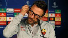 Di Francesco, en rueda de prensa en el Bernabéu. (EFE)