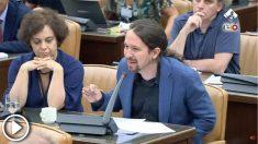 Pablo Iglesias interroga a Aznar en la comisión de investigación sobre la financiación del PP