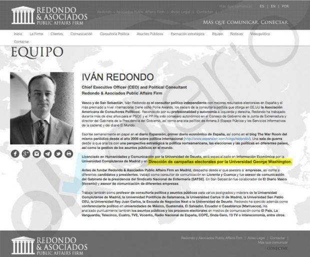 El jefe de gabinete de Sánchez falseó su currículum: la George Washington dice que nunca estudió allí