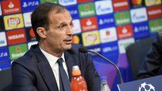 Massimiliano Allegri, en rueda de prensa. (AFP)