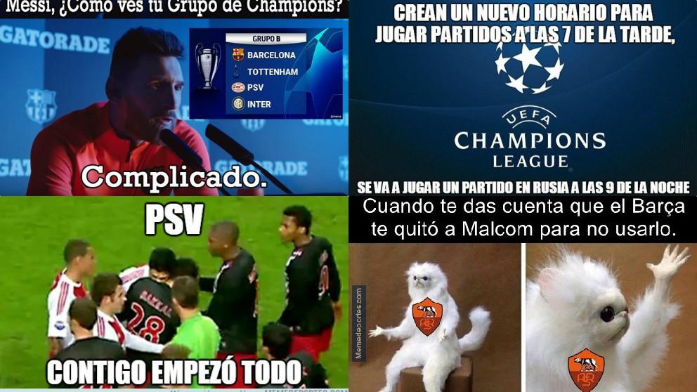 Los mejores memes del Barcelona – PSV.