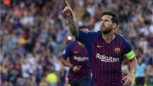 Messi volvió a salvar al Barcelona. (AFP)