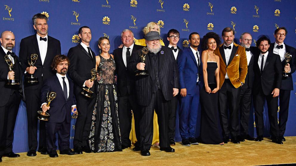 La familia de 'Juego de Tronos' en los Premios Emmy 2018. (Foto: AFP)