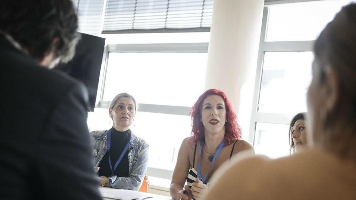 reunión de C's con el Sindicato de trabajadoras sexuales (EP).