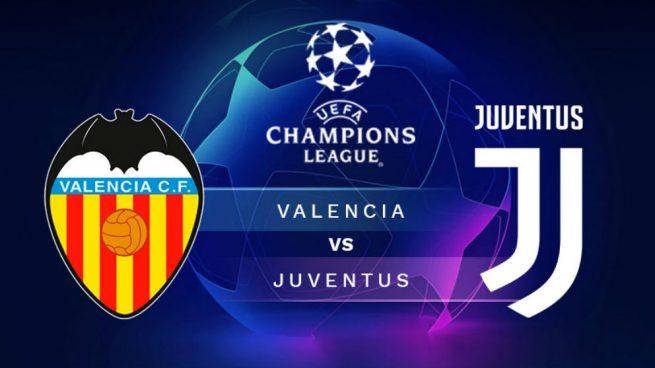 Champions League: hora y dónde ver el partido Valencia – Juventus