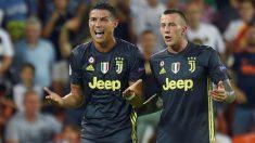 Cristiano Ronaldo fue expulsado en el Valencia – Juventus de la Champions League. (AFP)