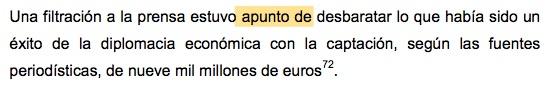 """""""A punto de"""" mal escrito en la tesis doctoral de Pedro Sánchez."""