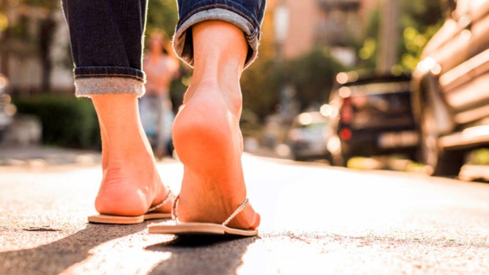 Guía de pasos para saber  apoyar el pie al caminar