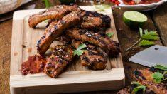 Recetas de costillas de cerdo con miel y curry fácil de preparar