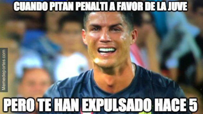 Los mejores memes de la expulsión de Cristiano Ronaldo