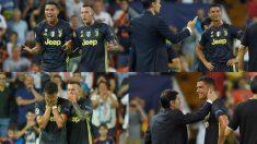 Cristiano Ronaldo fue expulsado durante el Valencia – Juventus de la Champions League.