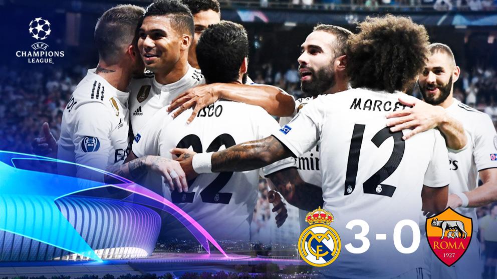 Real Madrid 3 vs Roma 0