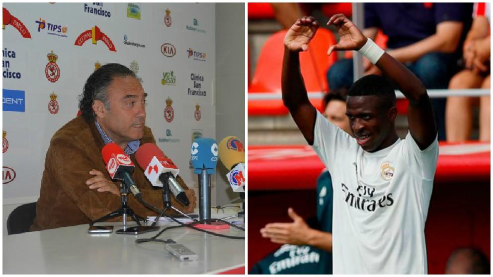 El director deportivo de la Cultural Leonesa, Felipe Llamazares, arremetió contra el Madrid y Vinicius.