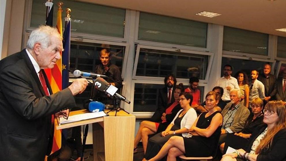 Ernest Maragall, en la delegación catalana en Berlín. (EP)