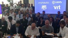 Firma del acuerdo entre Cabify, UGT, Vector y Unauto (Foto: C.M.)