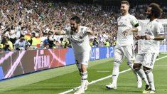 Isco celebra el 1-0 del Real Madrid a la Roma. (AFP)