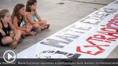 Proetarras usan niños manifestación a favor terrorista extraditada