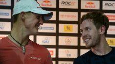 Vettel y Ferrari, juntos hace unos años. (AFP)