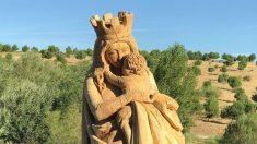 Virgen del Abrazo del parque de Valdebebas (Madrid). (EP)