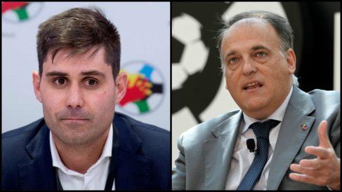 David Aganzo y Javier Tebas.