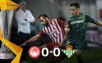 Olympiacos – Betis: Resultado, resumen y goles (0-0)