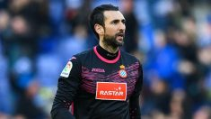 Diego López, en un partido con el Espanyol.
