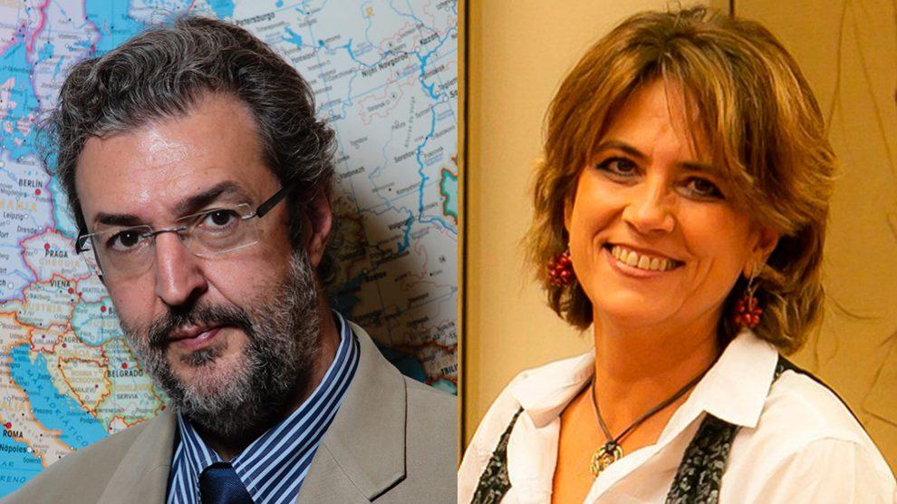 El ex director de comunicación del Ministerio de Justicia, Luis Fernando Rodríguez Guerrero y la ministra de Justicia, Dolores Delgado
