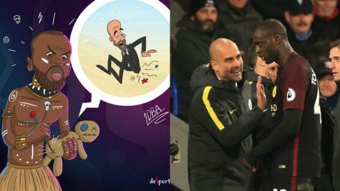 El agente de Yaya Touré se mofa de Guardiola y le 'hace' vudú.
