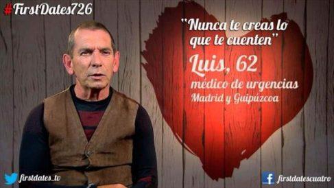 Luis, un hombre poco permisivo en 'First Dates'