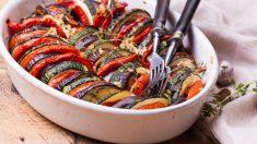 Receta de ratatouille con carne al horno fácil de preparar