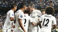Los jugadores del Real Madrid celebran el golazo de Isco ante la Roma (AFP).