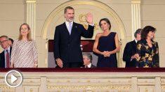 Los Reyes de España en el Teatro Real (Foto: EFE)