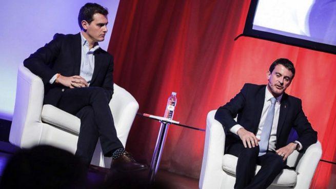 Albert Rivera y Manuel Valls. (Foto. Cs)