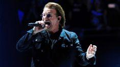Bono, líder de U2, en Madrid. (Foto: EFE)