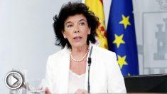 Isabel Celáa, portavoz del Gobierno y ministra de Educación. (Foto: EFE)