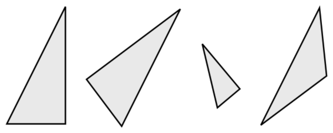 Cómo se clasifican los triángulos de acuerdo a sus ángulos