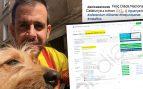 Daniel Casanovas y el documento de registro de la web de venta de artículos para los golpistas