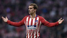 Griezmann durante un partido del Atlético en Liga. (AFP)