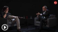 Iván Redondo y Pablo Iglesias en el programa de La Tuerka