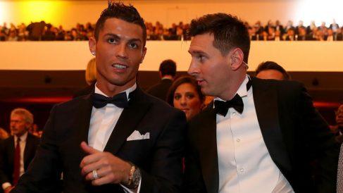 Leo Messi y Cristiano Ronaldo, en una gala de la FIFA.