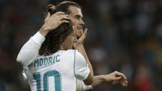 Modric y Bale en un partido del Real Madrid (AFP)