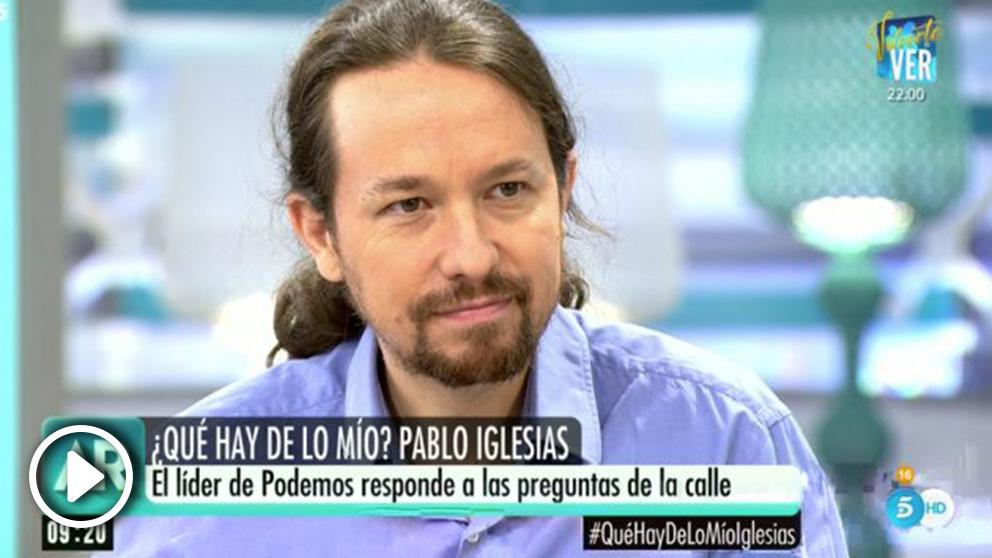 Pablo Iglesias en 'El programa de Ana Rosa'.