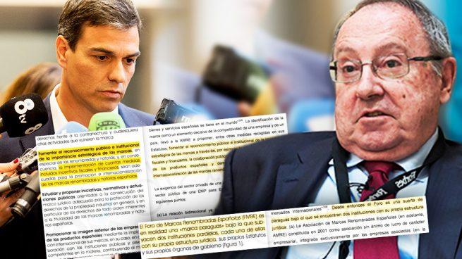 Pedro Sánchez y el presidente de Freixenet, José Luis Bonet