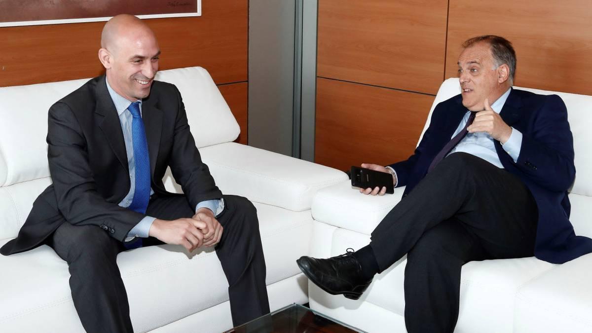 Luis Rubiales y Javier Tebas en una imagen de archivo.