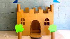 Un castillo hecho con cajas de cartón es todo un acierto para los más pequeños