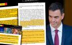Pedro Sánchez volcó información del Ministerio de Industria y la presentó como investigación propia.